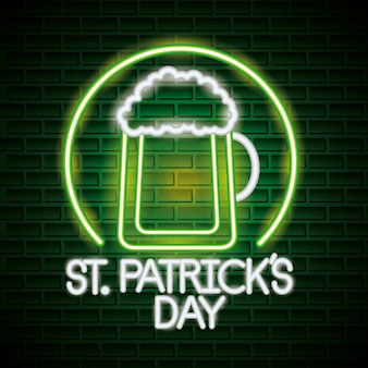 St patricks day neon
