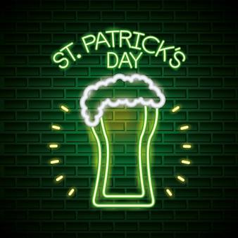 St patricks day neon