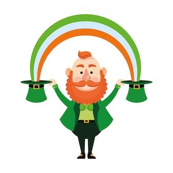 St patricks elf dos desenhos animados