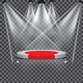Stage podium illuminated scene holofote festa