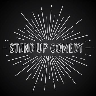 Stand up comedy text show sunrays tema retro