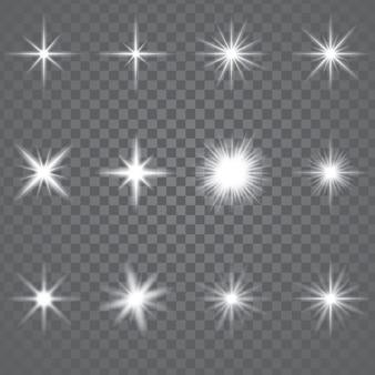 Star burst sparkling light