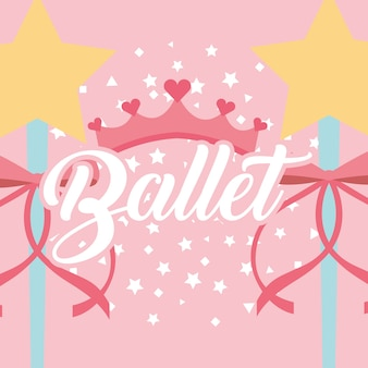 Star magic wand ribbon coroa balé fantasia