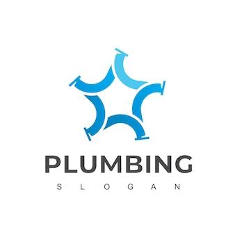 Star pipe, logotipo da empresa de encanamento