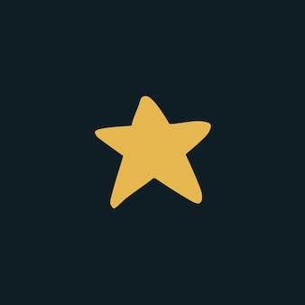 Star symbol social media post ilustração vetorial