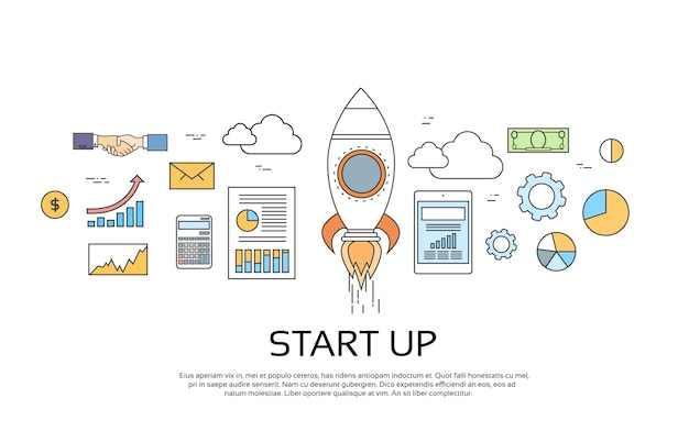 Start up concept novo plano de negócios