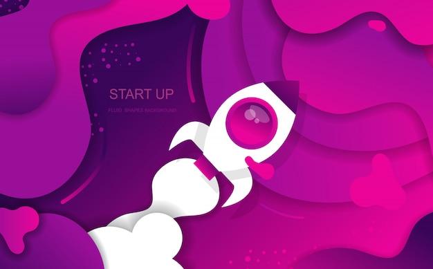Start up fluid shapes abstrato para apresentações de banners, página de destino e modelo. desenho vetorial.