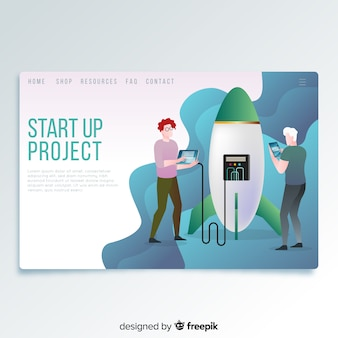 Start up página de destino do projeto