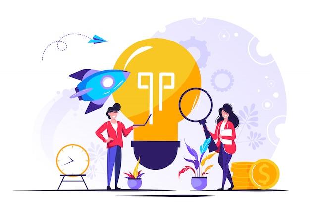 Start up para página da web, apresentação