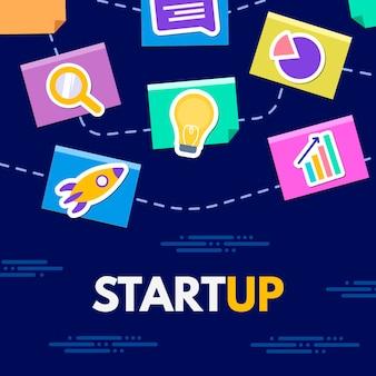 Startup de negócios com ilustrações