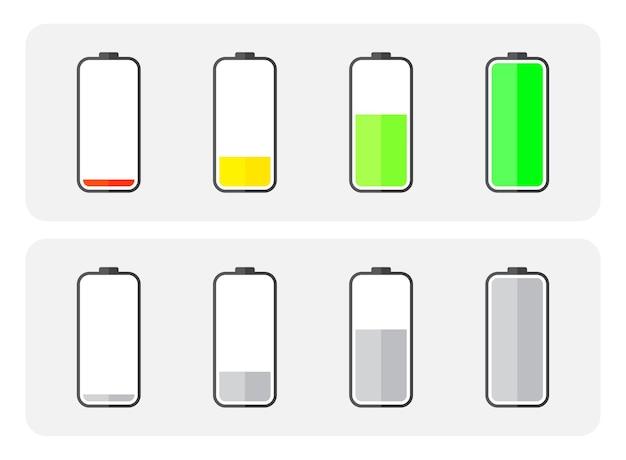 Status de carga da bateria do telefone definido