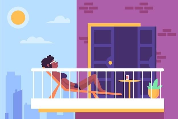 Staycation em casa varanda design