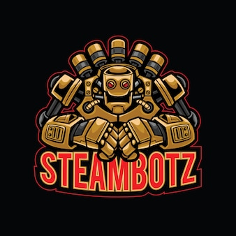 Steam robot esport logotipo