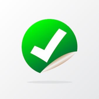 Stiker de verificação de vetor de ilustração