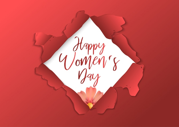 Stock vector modelo de cartaz de dia internacional da mulher