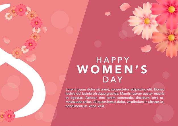 Stock vector modelo de dia internacional da mulher