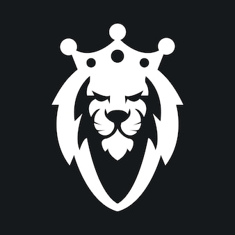 Stock vector professional lion king mascote logotipo ilustração.