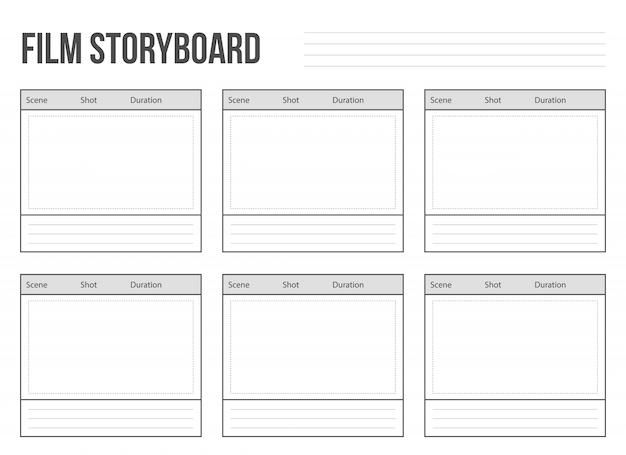 Storyboard de filme profissional
