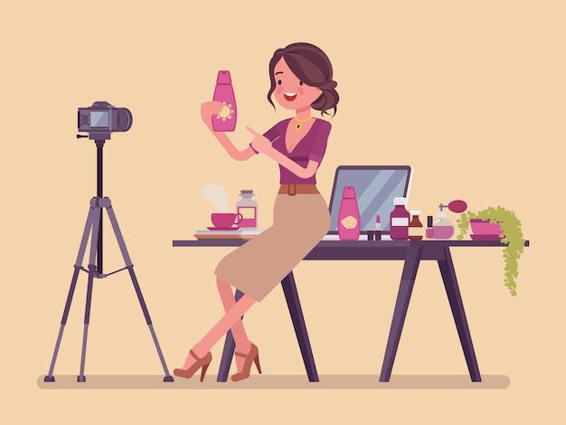 Streaming de blogueira de beleza