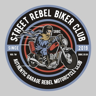 Street biker club rebelde