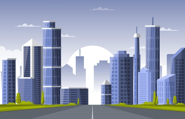 Street city building construction cityscape skyline business ilustração