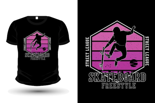 Street league skate estilo livre mercadoria silhueta t shirt design