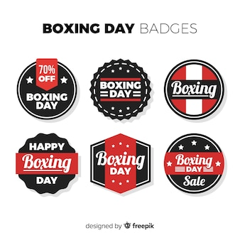 Stripes boxing day sale coleção de distintivo
