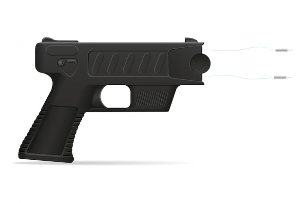 Stun gun arma auto defesa ilustração vetorial