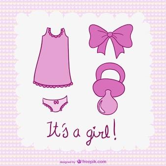Suas ilustrações uma menina