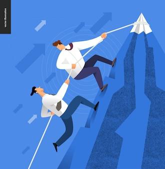 Subindo, conceito de negócio