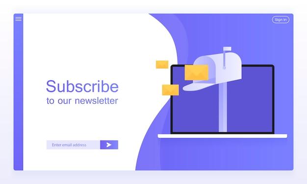 Subscrição de email, boletim online