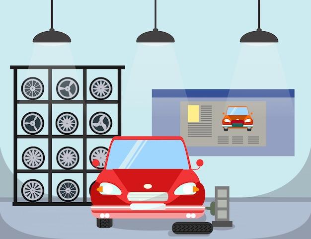 Substituição do pneu plano