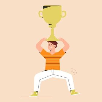Sucesso com troféu