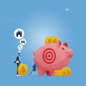 Sucesso de investimento e estratégia econômica de depósito de fundos