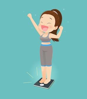 Sucesso de mulheres perdendo peso