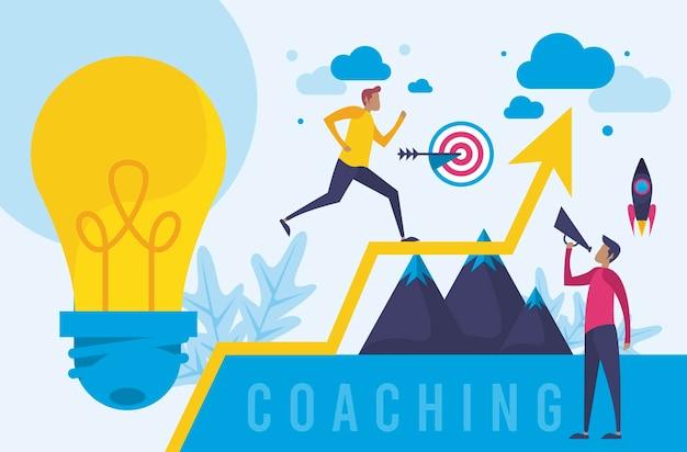 Sucesso do negócio de coaching