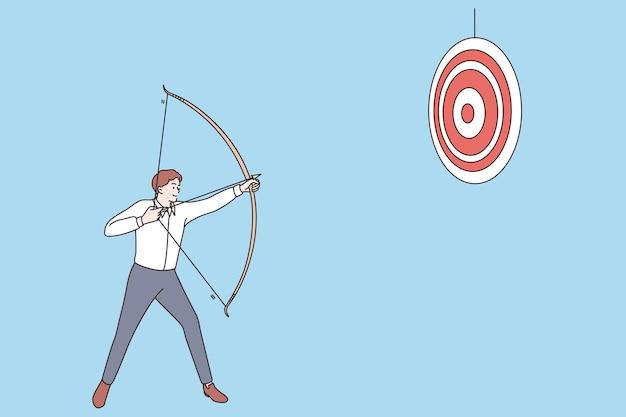 Sucesso empresarial e conceito de realização