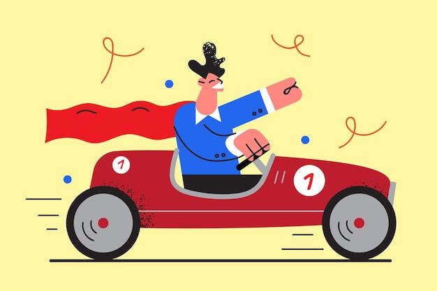 Sucesso empresarial e ilustração de liderança