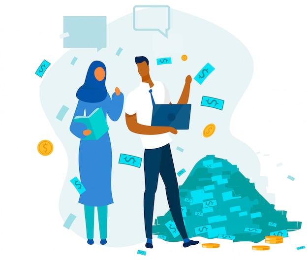 Sucesso financeiro e equipe multirracial de escritório