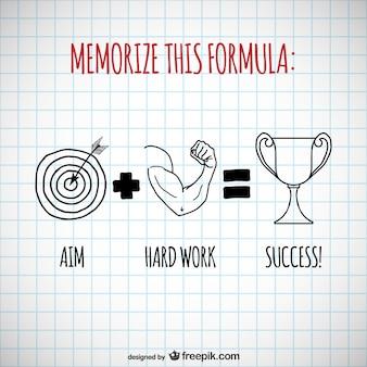 Sucesso fórmula vector