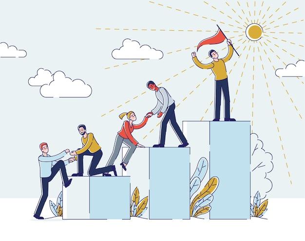 Sucesso nos negócios ou no conceito de carreira