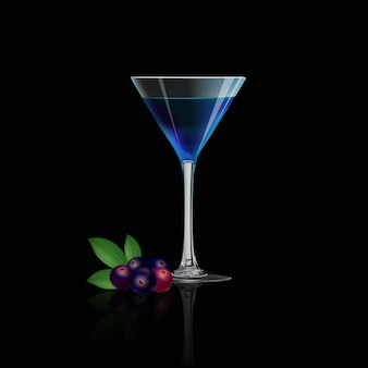 Suco de baga azul e baga azul fresca