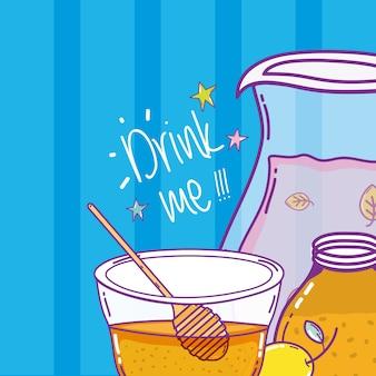 Suco de desintoxicação com limão e mel
