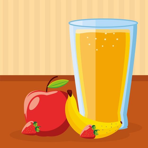 Suco de frutas no café da manhã