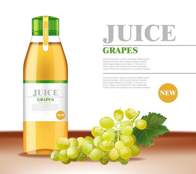 Suco de uvas brancas mock up