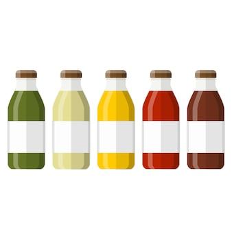 Suco em garrafa de vidro