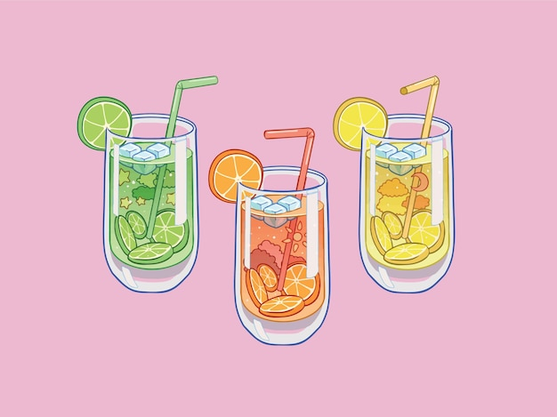 Sucos cítricos refrescantes