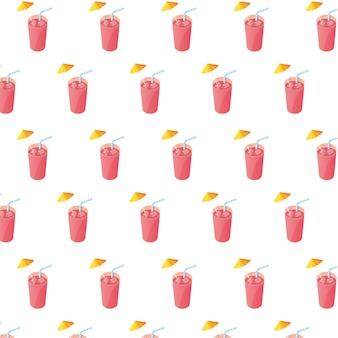 Sucos de frutas cocktails com palhas padrão
