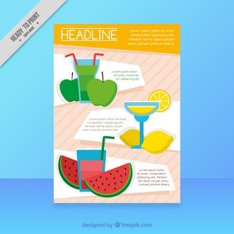 Sucos de frutas insecto