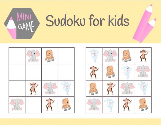 Sudoku jogo para crianças com fotos
